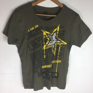 US Army Green Stretch Casual XL T-Shirt